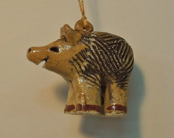 Javelina Ornament, Handmade Southwest Ceramics by Karlene Voepel