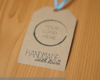 Handmade with love Customisable Gift tags Digital Download PDF
