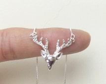 Precious~~~ sterling silver 925 ELK  Necklace/ Elk Deer Necklace
