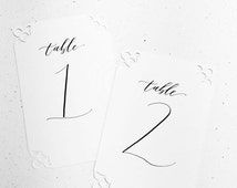 Calligraphy Table Numbers - Wedding, Celebration, Event - Custom Calligraphy