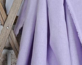 cotton linen fabric purple single color 10m
