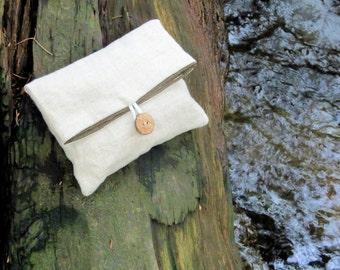 Simple Linen Clutch