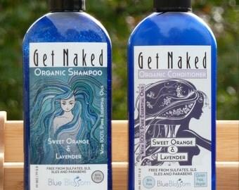Organic Shampoo and Organic Conditioner - Rosemary Shampoo - Peppermint Shampoo - Lavender Shampoo and Conditioner - Organic Hair Care