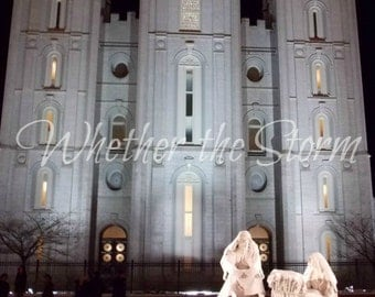 "LDS Salt Lake temple print ""Praise Him"" Fine art print Home decor"