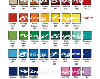 """10 Sheets ORACLE 651 Craft Hobby Vinyl. 50 COLORS available. 12"""" X 12"""""""" each . Includes Silver and Gold!"""