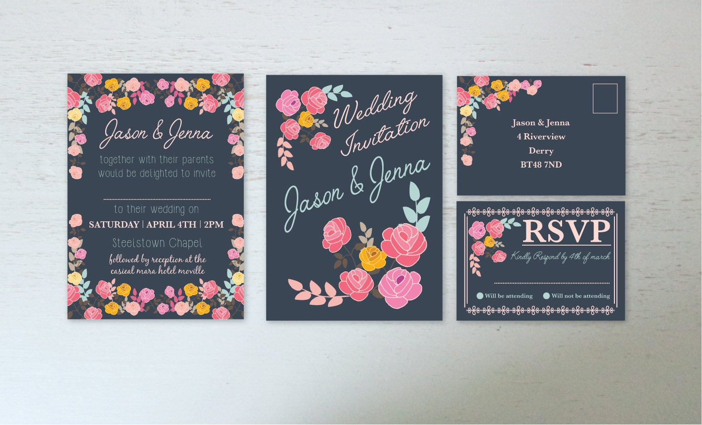 Wedding invitations rsvp card digital download wedding for Digital wedding invitations with rsvp