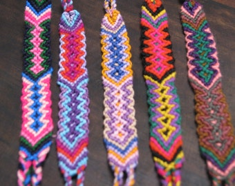 5x  Handmade Guatemalan Friendship Bracelets