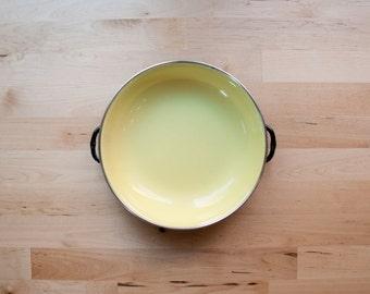 1960s Yellow Yugoslavian Enamelware Paella Pan