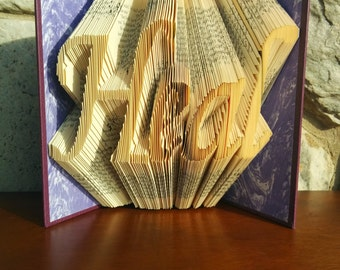 Heal - Folded Book Art -Fully Customizable, Doctor, healer