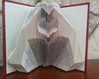 Love Hands - Folded Book Art - Fully Customizable, romantic, heart, anniversary, love, wedding