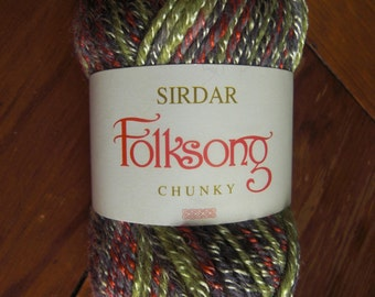 Sirdar Folksong - Oakie (379) - wool and acrylic yarn