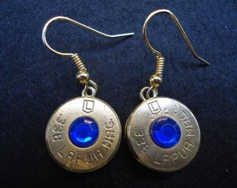 Dangle Bullet Earrings with the Birthstone of your choice