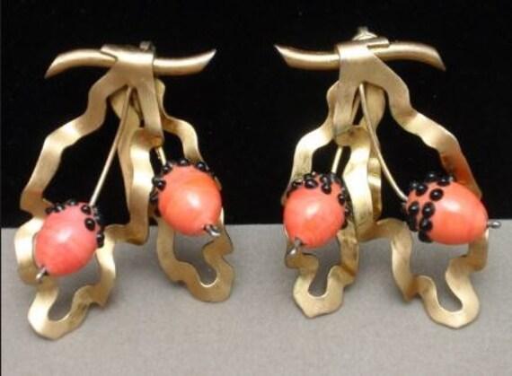 Rare Berry Earrings from Nettie Rosenstein - Extraordinary!