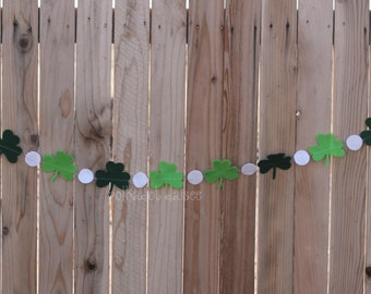 Felt Shamrock Banner, Felt Banner, Classroom Decor, Mantle Decor, Shamrock Banner, St. Patrick's Day