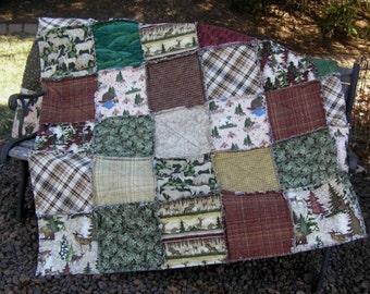 Hunter's/Outdoor's Rag Quilt