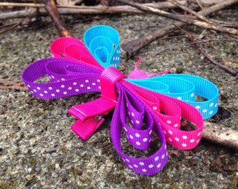 Float Like A Butterfly Spring and Summer Hair Clip. Butterfly Hair Bow