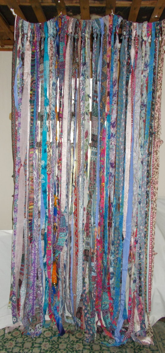 Boho Gypsy Hippie Garland Banner Curtain Backdrop Room Divider