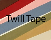 Twill Tape Cotton Herringbone 1.5 inch Wide 36 mm Wide By The Yard Sewing Trim Home Décor white ivory gold green blue pink red brown black