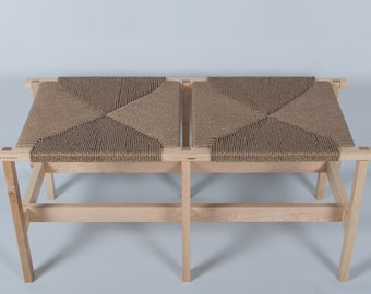 Braided bench - Weaved top bench
