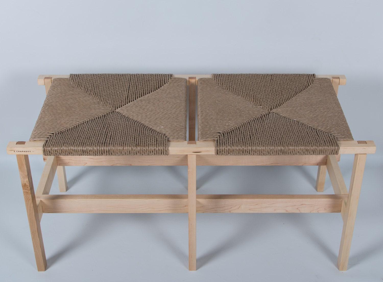banc tress weaved top bench. Black Bedroom Furniture Sets. Home Design Ideas