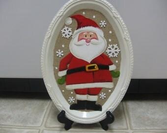 Santa Christmas Wall Hanging-Christmas Decor-Shelf Sitter