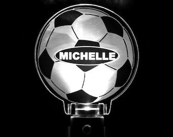 Soccer Ball Personalized Sports Night Light