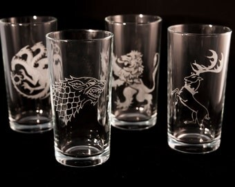 Game of Thrones Emblems (Engraved Hi-ball glasses)
