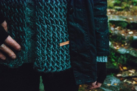 Fernweh SLATE Chunky Knit Scarf