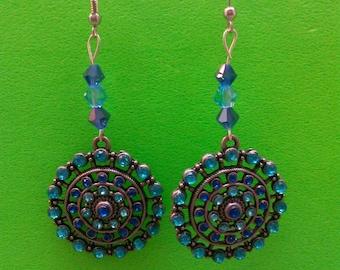 Handmade Blue Earrings.