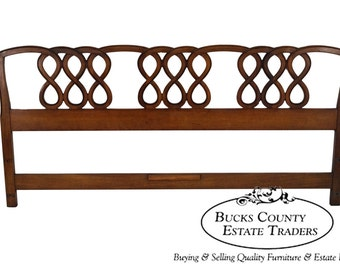 Henredon French Country Style Fruitwood King Size Headboard