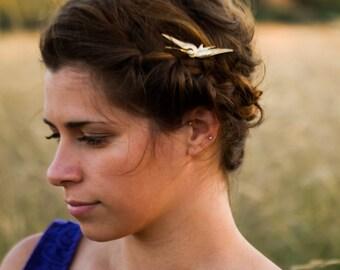 Bird Hair Clip Boho Hair Pin Gold Bird Bobby Pin Swallow Hair Clip Pretty Woodland Hair Pin Gold Hair Clip Wedding Hair Accessory