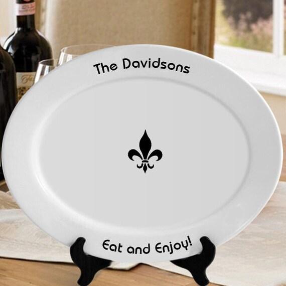 Serving platter fleur de lis 13x11 or by personalizednprinted - Fleur de lis serving tray ...