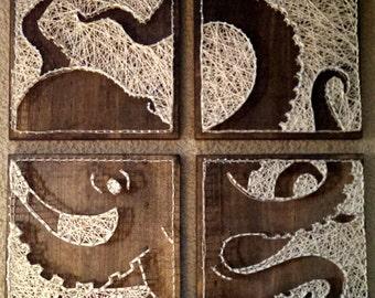 4 panel Octopus Nail and String Art *Original Design*