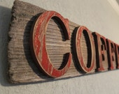 Reclaimed Wood Sign- COFFEE sign- Rustic Home Decor, Home Decor, Reclaimed Wood, Reclaimed Wood Sign, Wall Hanging, Kitchen Decor, Rustic