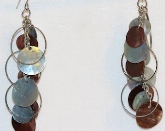 drop earrings circles