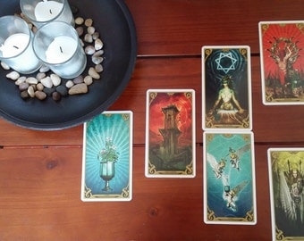Face Shadows Tarot Card Reading Fortune Telling Spread Learn Overcome Fears Personalized Read