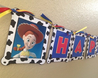 Jessie Banner, Toy Story banner, Toy Story birthday, Jessie party