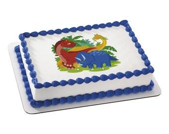 Dinosaurs Edible Image