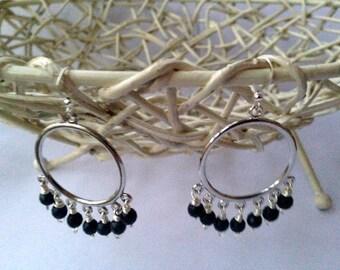 Chandelier earrings, Dark blue, gemstone, Dumortierite Faceted