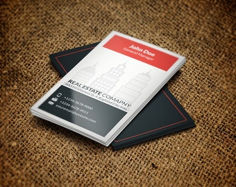 Printable Real Estate Business Card | Business Card Template | Card Template | Photoshop Template | Instant Download Vol.2