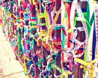 Brazil Photography, Colorful Ribbons from Bahia, Brazilian Art for Kids Room Decor