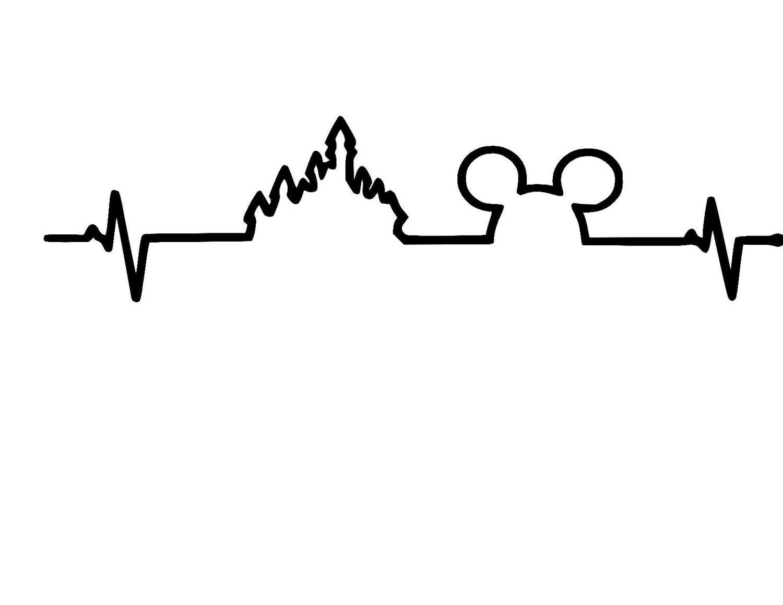 Disney Heartbeat Mickey Castle Vinyl Car Decal Sticker