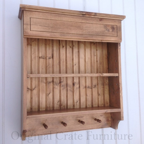 Wall Cabinet Spice Rack: Spice Rack Shelf Unit Kitchen Cabinet Wooden Wall By