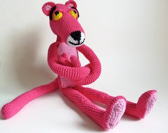 pink panther toy on Etsy, a global handmade and vintage marketplace.