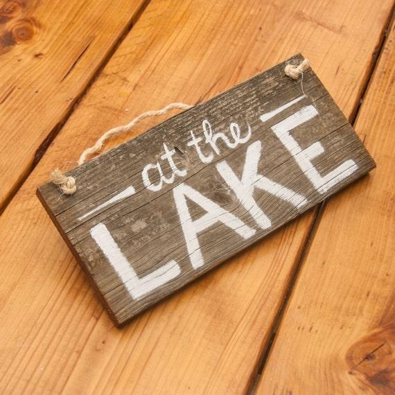Lake Signs Wall Decor : Lake house decor life signs by