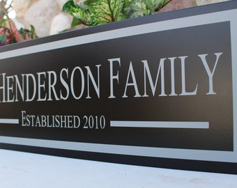 Last name sign family establish-housewarming gift-personalized family name sign-family established wood sign-anniversary gift-custom family