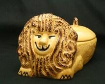 Retro Lion Cookie Jar