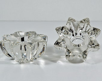 French Glass Crystal Bougeoirs (Candle Holders)