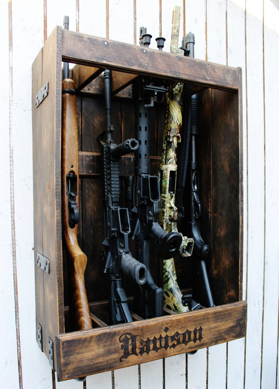 Custom gun cabinets cases and racks for Custom home safes