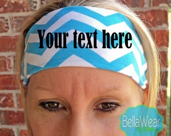 CUSTOMIZE YOUR HEADBAND - Choose the Color Headband, Text, and Font - Fitness Headbands - Workout - Running - Hair Accessories